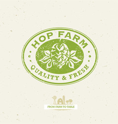green hop organic farming design element on vector image vector image