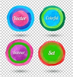 Hand drawn circles vector image