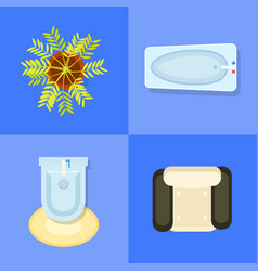 indoor furniture icons set vector image