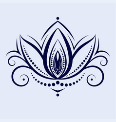 Mandalas ethnic style decorative lotus flower vector