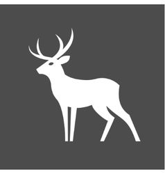 Monochrome deer with antlers for vector
