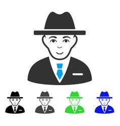 Positive agent icon vector