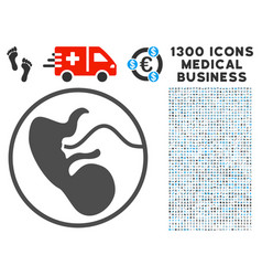 Prenatal icon with 1300 medical business icons vector