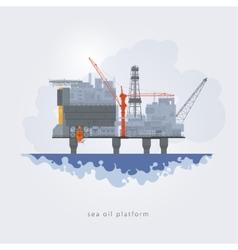 Sea oil platform vector