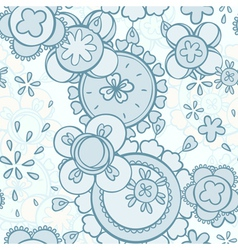 Seamless pattern abstract floral design vector