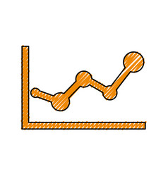 statistics diagram pictogram vector image