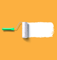 white roller brush vector image