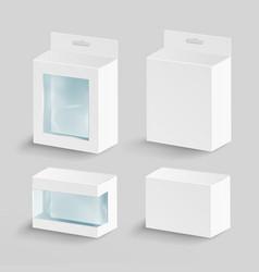 White blank cardboard rectangle  empty vector