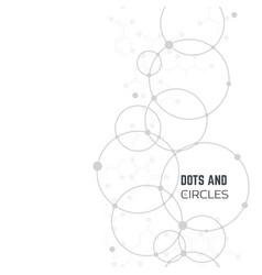 Circles and dots vector
