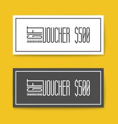 Set of gift discount voucher cards vector