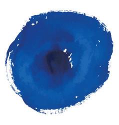 Blue rough watercolor circle spot banner vector