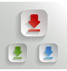 Download icon - app buttons color set vector image