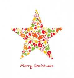Christmas card star vector