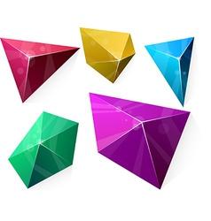 Polygonal vibrant pyramid vector image