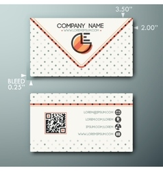 Modern simple vintage business card template with vector