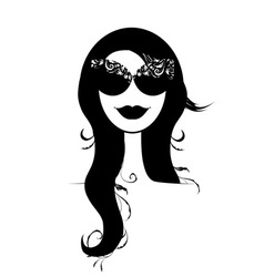 Woman head silhouette vector