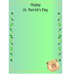 St patrick day invitation or menu vector