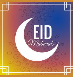 Awesome eid festival greeting background with vector
