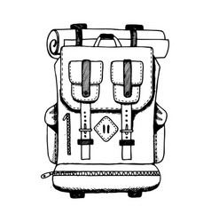 backpack engraving vector image