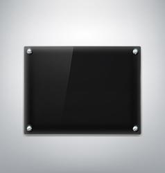 Black plate stock vector