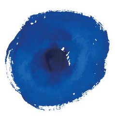 Blue rough watercolor circle spot banner vector