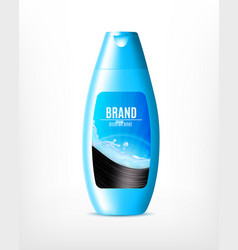 blue shampoo bottle vector image