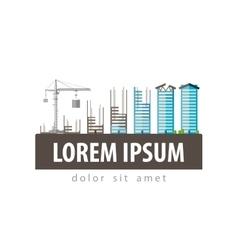 construction site logo design template vector image vector image