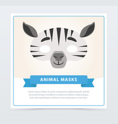 creative masquerade mask of zebra african or vector image