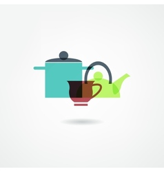 crockery icon vector image