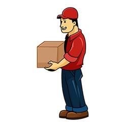 Delivery men vector image vector image