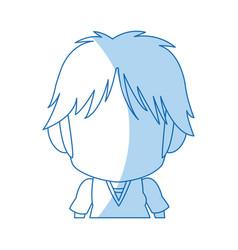 Face cute anime tennager facial expression vector