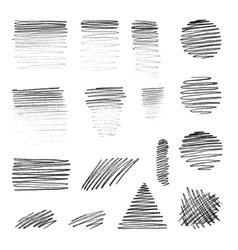 hand-draw shapes with pencil texture vector image vector image