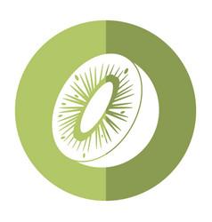 Kiwi tropical fruit icon shadow vector
