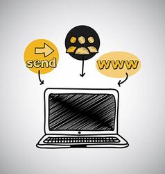 laptop design vector image