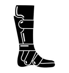 Leg in retainer icon simple style vector