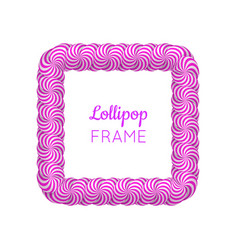 Lollipop violet square frame vector