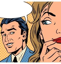 man calls woman retro style comic Pop art vintage vector image vector image