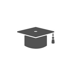 Mortarboard icon on a white background vector