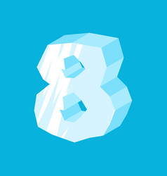 number 8 ice icicles font eight frozen alphabet vector image vector image