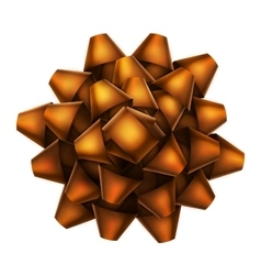 Orange bow top view EPS 10 vector image vector image