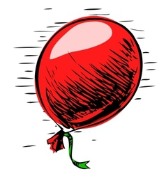 Party balloon with ribbon vector image