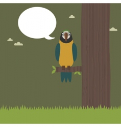 perched parrot vector image vector image