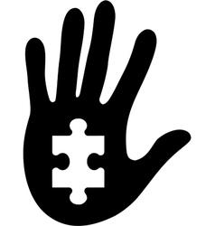 puzzle 18 vector image vector image