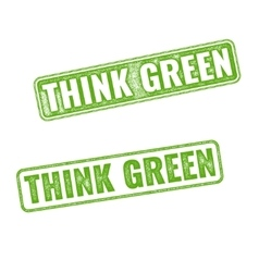 Realistic grunge rubber stamp go green vector