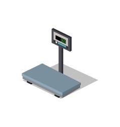 Scales flat design weight of goods vector