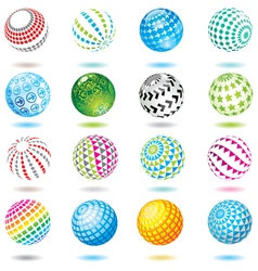 set of design elements and buttons vector image vector image