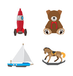 set of geometric toys vector image