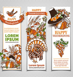 Set of thanksgiving banners vector