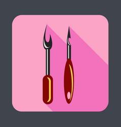 shoes sewing tool concept background cartoon vector image