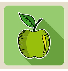 Sketch style green apple vector image vector image